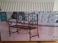Mosaic bench pretty & comfortable design indoor /outdoor use brand new boxed