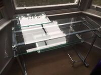 Glass and chrome desk - GREAT CONDITION!