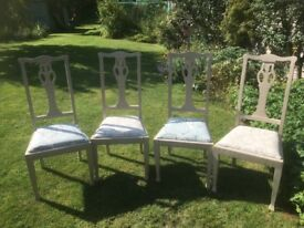 4 upholstered chairs