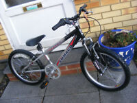 """BOYS 20"""" WHEEL FRONT SUSPENSION BIKE IN GREAT WORKING ORDER AGE 7+"""