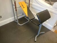 V-FIT STB/09-4 FOLDING WEIGHT TRAINING BENCH - IMMEDIATE COLLECTION