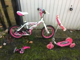 14 inch bike + scooter