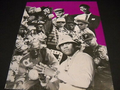 PUBLIC ENEMY others collage style VINTAGE Promo Poster Ad mint condition