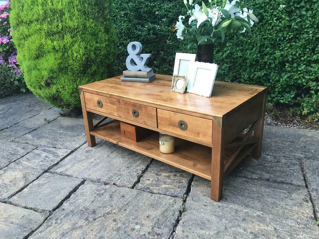 Laura Ashley Balmoral Coffee Table Solid Birch Wood With Drawers Rrp 695 In Batley West Yorkshire Gumtree