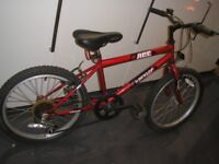 ace child boy bike red