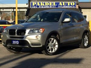 2013 BMW X3 xDrive28i*NAVI*360' CAMERA*PANORAMIC*BLUETOOTH AUD