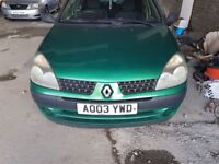 Renault Clio Green 2003 Breaking for parts