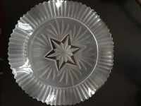 Pretty fluted Lalique style glass plate