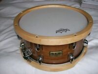 Tama snare drum for sale, SLPmodel, Wooden Hoops. completey as new. photos to follow,