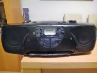 portable Philips radio cd and double cassette player