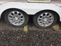 Caravan Alloys set of 4 with tyres. 165 70/13