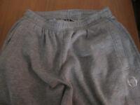 Sergio Tacchini fleece tracksuit trousers in grey (medium)