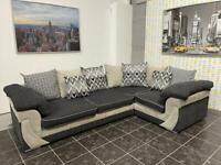 Large SCS corner sofa in grey