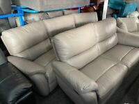 NEW EX DISPLAY LAZYBOY MAYNARD GREY 3 SEATER RECLINER 4 SEATER CURVED RECLINER SOFAS SOFA 70%Off RRP