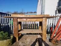 Reclaimed work bench
