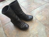 Fly dark brown leather boots size 38