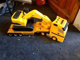 Selection of JCB toys digger wagon trailer