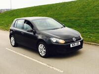 2011 Volkswagen Golf MATCH TDI BLUEMOTION TECHNOLOGY 2.0 5dr diesel black not a3 leon
