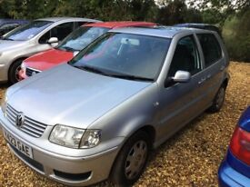 2001 Volkswagen Polo 1.4 Match 7 Months MOT Service History SPARES AND REPAIRS BREAKING
