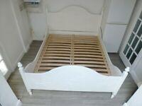 IKEA KVIBY EUROPEAN KING SIZE WHITE BED FRAME 160x200cm