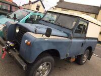 1966 Land Rover series 2A. tax exempt.
