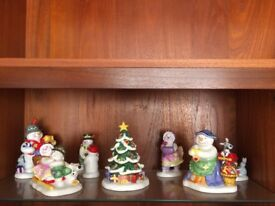 Royal Doulten Frosty family ornaments. Good condition