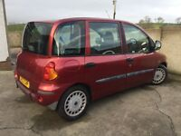2003 Fiat Multipla Wheelchair Vehicle. Wheelchair user travels up front. FSH. 41K miles. serviced