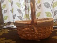 Wicker basket easter