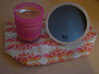 CANDLE/WASHBAG & MIRROR