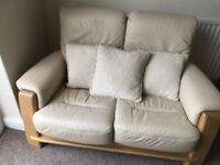 Barker leather 2 seater sofa and armchair