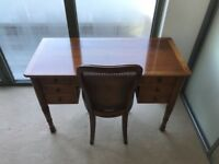 John Lewis dressing table and chair, made in Italy, solid wood, 7 drawers