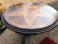 Lovely inlaid round dining table