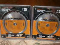 "Two Evolution ""Rage""circular saw blades"