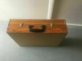 Wooden Tool Case or Briefcase or Camera Case Hobby Crafts Case