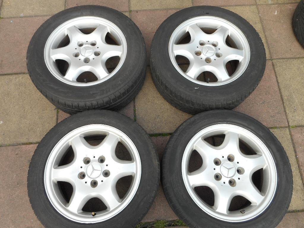 Mercedes Benz C Class 16 Staggered Alloy Wheels In