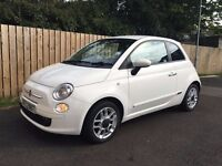 Fiat 500 - White. Sports edition with half leather seats and alloys.