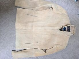 Suede jacket size L. Never worn.