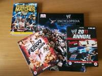 Wwe encyclopedia and 3 DVD sets