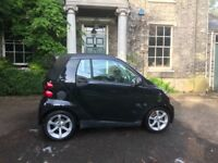 Smart Car Convertible - 62,500 Miles, Black, Very good condition