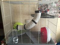 Rat cage - with accessories
