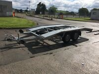 Recovery trailer brand new car transporter, spare wheel, 4 x straps, electric conector, winch