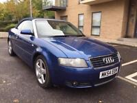 AUDI A4 CONVERTIBLE 1.8 AUTOMATIC ** FULL LEATHER SEATS ** SERVICE HISTORY