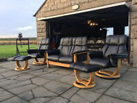 G-Plan full leather recliners VGC DELIVERY AVAILALBE