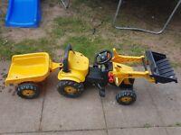 Jcb yellow tractor