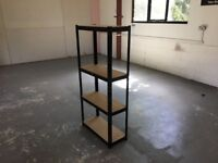 BLACK RACKING WAREHOUSE WORKSHOP SHOP GARAGE SHED BAY SHELVING UNIT