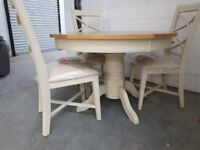 Mark Webster Designs Bordeaux Dining Table + 4 chairs (DAMAGED) RRP 1199