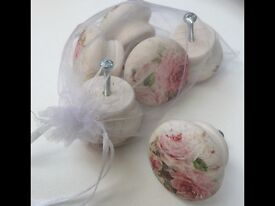 Hand Decorated Handles Shabby style decorated with decoupage