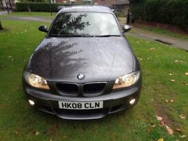 2008 BMW 1 Series 2.0 120d M Sport 5dr [START/STOP+LEATHER+HEATED SEATS+PARK AID+WARRANTY]