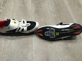 MAVIC MAN TRI RACE SHOES WHITE BLACK QUICK