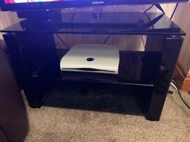 Black glass effect TV stand